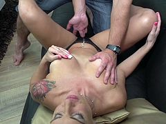 Mature lady Natalya, has big boobs and thin waist. She is a real seductress and always interested in sex with new guys. She seduces them, by flashing her big breasts, then masturbates in front of them, and offers to shove their fingers in her holes. She is amazing in cock sucking and always hungry to...