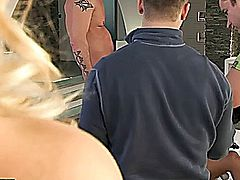 Debbie White is starring in a hardcore double penetration action