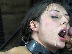 Rough torture session in the dungeon with a bound girl