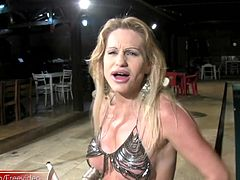 What wicked blue eyes this spicy tranny babe has and her dick teasing skills are merciless. Leticia is one pretty and talented T-girl that loves getting you hot and hard. Just watching as she...