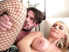 Sexy bodied slut Kenzie Taylor with gigantic boobs has some time to get some pleasure with Manuel Ferraras love torpedo in her mouth after bum fucking