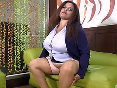 Fat can not stop this chubby granny latina from masturbating her horny wet pussy