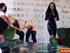Mature German kinky performers in wild threesome. Crossdressing makes the difference for the one holding the cock banging these Mom´s hard.