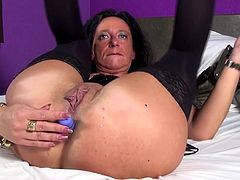 Dirty mother wants to be fucked in all holes