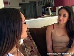 Gabriella Paltrova shows sheena a very hot warm welcome to the neighborhood
