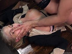 My girlfriend agreed for submission sex, but she didn't know how bad I am, when girls are tied with ropes. I removed her clothes, gagged her mouth and made her butt red with spanking. I fingered her pussy, stimulating her cunt, then fucked her mouth brutally and...