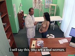 I was having some health problems, so I went for check. The doctor asked me to remove all clothes and started inspection. He pressed my boobs and pinched my nipples, then he shoved his fingers in my pussy. Before I realized that, he was already playing with my lady parts, his cock was in my....