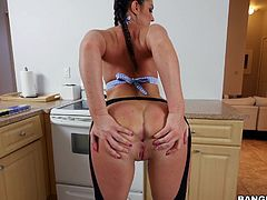 I hired a new cook yesterday, for the dinner. To my surprise, it was pretty babe with perfect figure and unbelievably appetizing butt. And the most pleasant was, that she was cooking all meal, wearing only apron. But, guys, who needs dinner, when you can get such yummy ass and juicy pussy? I can have to eat later