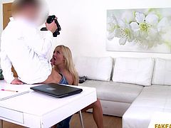 The fake agent convinced me for nude video recording. I was excited to become a model, so I did every nasty thing, he asked. I stripped and showed some naughty poses. I caressed my breasts, rubbed my pussy, and shoved fingers in my ass hole. I wanted to impress him, so I removed his pants, and sucked his big dick.
