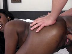 Visit official Teeny Black's HomepageFirst time for cock sucking amateur ebony, Camille Amore, when she holds a white cock like that and also when she fucks in such crazy interracial scenes