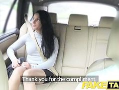 FakeTaxi Sexy long legs in lace stockings
