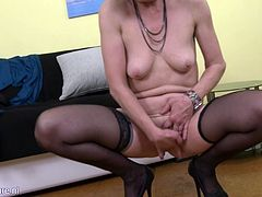 Granny Zelma sure knows how to please herself. She also likes using vibrators. The only thing that's missing is a new lad with fat pulsating cock, willing to slam her pussy into oblivion. She loves getting pounded hard and will be more than glad to welcome you into her bedroom!