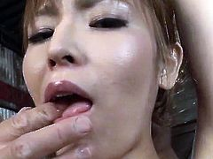 Toy porn experience for obedient Japanese Saori