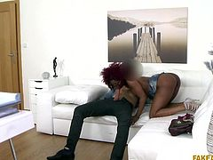 ebony milf nailed it in the fake audition