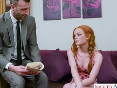 Ella Hughes desperately wants to learn french. Her parents hired a french tutor. When she encountered some problems regarding the pronunciation, her teacher decided to help her loosen her tongue. The way she sucked his dick, Ella will not have any more problems regarding the pronunciation.