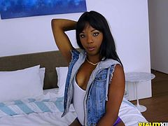She is heaven for any guy that is into black chicks, and Chris certainly has jungle fever. Her round bottom would entice any man. Teenage ebony princess Sarah, slobbered all over his white dick, and he had a taste of that delicious chocolate pussy.