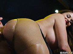 Danny D is horny and cant wait any longer to bang Brunette Cathy Heaven in her butt