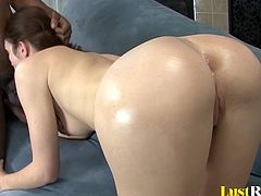 Hot creampie for a tall spinner Faith Leon