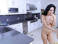 Brunette Robby Echo with juicy boobs and horny bang buddy are so fucking horny in this cock sucking action