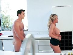 Ramon seduces Blonde Kayla Kayden into fucking