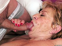 Mature with juicy jugs gets the hole between her legs fucked hard