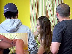 Visit official Brazzers Network's HomepageGirl on fire enjoys man to fuck her shaved pussy behind the counter while she deals some guys problems like nothing is happening back there
