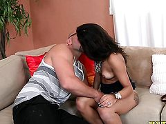 Tattooed senora with round ass is too hot to stop the cock stroking session