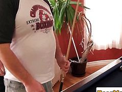 Bushy superchub jerking off during the time that fingered