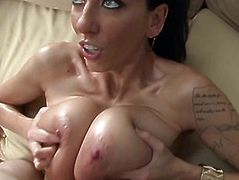 Milfs natural jugs jizzed