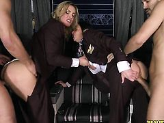 Brunette Tanya Tate with gigantic tits and clean pussy has some dirty fantasies to be fulfilled with Danny Mountains stiff love wand in her mouth before she gets fucked in her cornhole