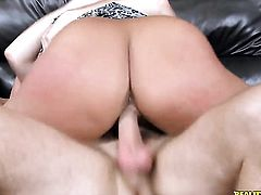 Levi Cash is horny and cant wait any more to slam gorgeous Carey Rileys mouth