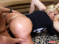 Blonde Molly Bennett with juicy jugs and clean twat is too hot to stop lesbian love session with pussy-hungry Karen Fisher