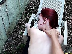Redhead just loves to suck and cant say No to horny guy