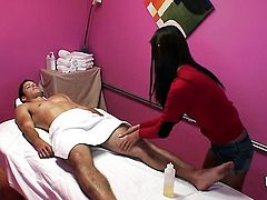 Asian fucking like a first rate whore in steamy interracial action with hot dude