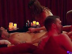 Orgy with amateur swinger couples in reality show