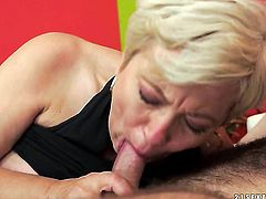 Blonde enjoys some passionate sex