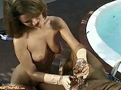 Stevie Rose Lathers Cock With Icing And Chocolate Syrup