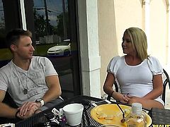 Tattooed Tara Star with giant tits and hairless bush blows the jizz out of Levi Cashs tool