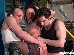 Squirting French MILF DVP & DP