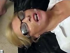 Horny blondes get absolutely drenched in spunk facial showers
