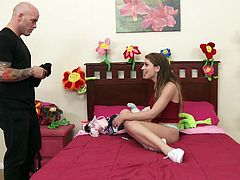 Joseline Kelly is all alone in her bedroom masturbating while a burglar secretly watches her from the closet Derrick bursts out Joseline is too captivated by his killer bad boy looks that she lets him penetrate her tiny twat