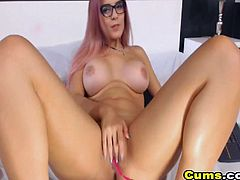 Super hot and sexy webcam babe loves to tease her many viewers live on cam She shake her big booty and she is so fucking sexy in the whole video she grabbed her favorite dildo she plays with it she lick and suck it like its a real cock then she let her dildo fuck her tight pussy while fingering it she ride on it while smashing her boobs