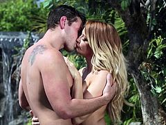 Jessica Drake Is A wicked milf and today she is having hot sex in the garden of Eden. She opens up her legs very wide and her man eats out her wet pussy, before she gets fucked hard by that massive cock of his.