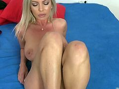 We bring the best in live shows, right onto your screen. We have the busty Donna Bell with us today, and she is gorgeous, big-breasted, and has a lovely, wet pussy. Her mouth is even better, sucking off our man Dan with total delight.