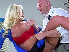 No matter how focused a woman is on her career, they're not a match for johnny sins and his massive dick. Johnny has been known to make every crave for his D, so this business woman is no excuse