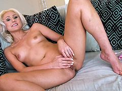 Try not to ejaculate right in your pants, watching this exteremely hot scene. Her hairless pussy looks so tempting and inviting, that you need just to pull your hard cock out and stick it inside. Wow! It's so good here!