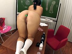 Test of Schoolgirl's Ass