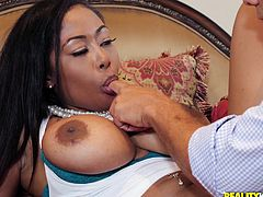 I believe that if nature has endowed you with something, then you must necessarily share it with others. Moriah Mills follows this rule and generously shares her incredibly huge bubble butt and enormous tits, with everyone who wants it. Today, Ramon got this