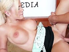 Bibi Noel is up for some serious action, considering that her partner is Johnny Castle in this hot blonde porn. Johnny stuffs that tight twat with his monster cock so she screams in pleasure