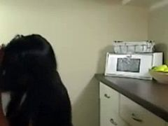 Dirty Talking German Babe Fucked in the Kitchen